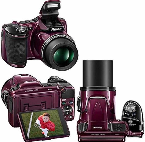 Câmera Digital Semiprofissional Nikon Coolpix L830 (vinho)