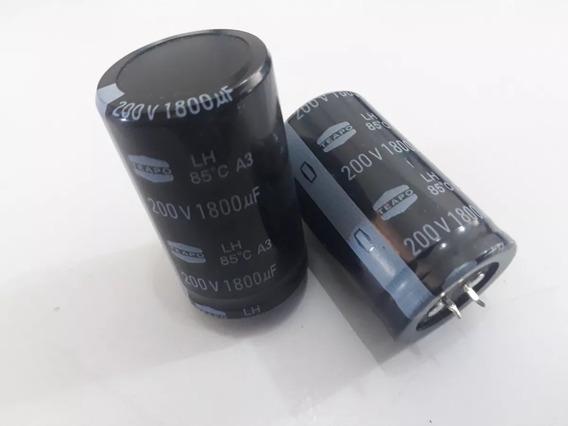 2 Capacitor Snap In 1800uf 200v 85° Teapo * Maquina De Solda
