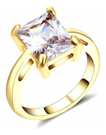 Anel Feminino Solitário Cristal Quartzo Evento Noivado 675