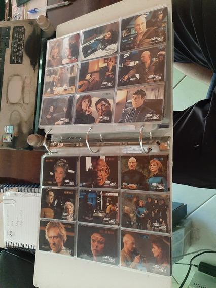Star Trek Imensa Coleção De Cards Fichário Com Mais De 700