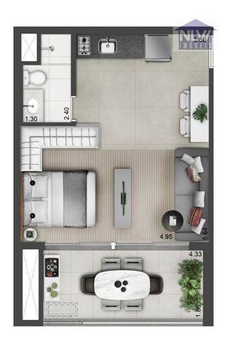Imagem 1 de 23 de Studio À Venda, 24 M² Por R$ 391.107,00 - Campo Belo - São Paulo/sp - St0106