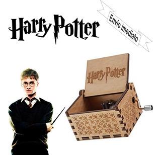 Caixa De Musica Harry Potter, Madeira, Manivela, Hp.