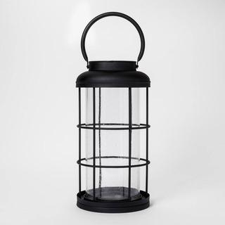 Smith & Hawken Lanter Porta Vela Lámpara Metal Vidrio Amyglo