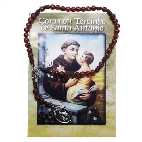 10 Terço Santo Antonio Acrílico Com Oração