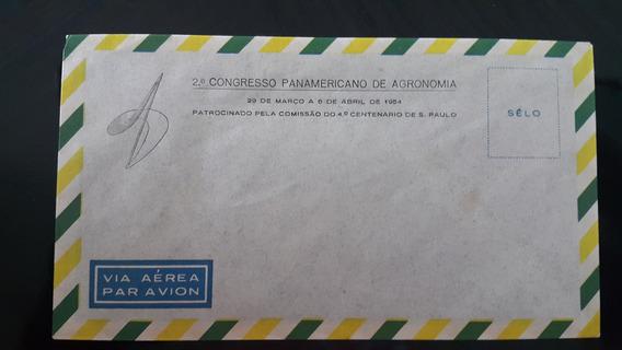 10 Envelopes Novos Sem Selos 1954 - 2º Congresso Agronomia