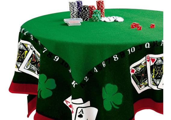 Toalha Mesa Baralho Cartas Poker Jocker Promo Dia Dos Pais
