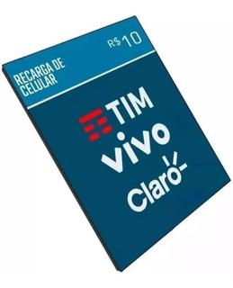 Recarga Celular Crédito Tim Vivo Claro Oi R$ 10,00