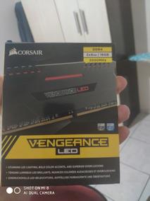 Memória Corsair Vegeance Led Red 3000mhz 16gb