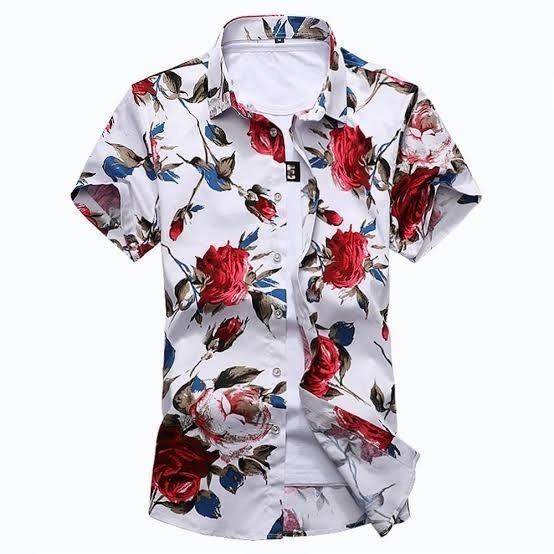 Kit 10 Camisa Social Floral Florida Masculina Havaiana