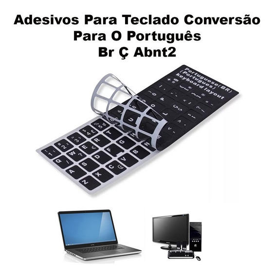 Etiquetas Adesivos Idioma Teclado Abnt Abnt2 Português Br Ç