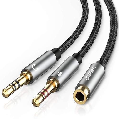 Cable Micrófono Audio Ugreen 3.5mm Con 2 Conectores