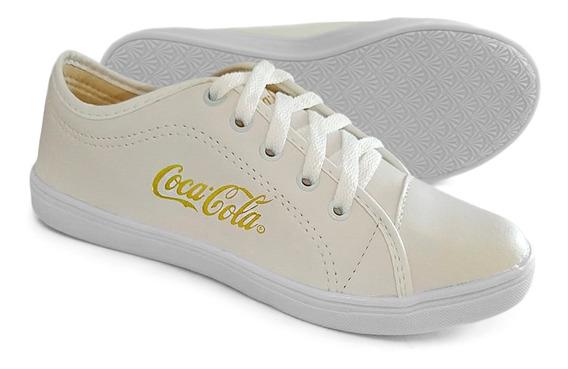 Tênis Feminino Casual Coca Cola Jeans Promoção Lançamento