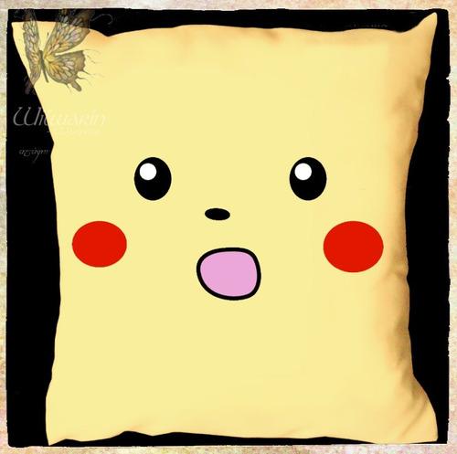 Almohadones Pikachu Pokemon Meme Estampados 40x40cm Wilwarin
