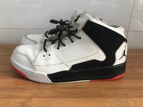Tênis Nike Infantil Air Jordan Flight Original Couro Tam 30