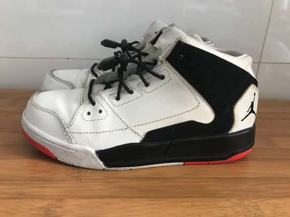 Tênis Nike Infantil Air Jordan Flight Original Couro Tam 30