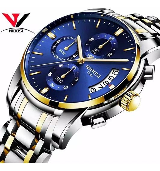 Relógio Masculino Nibosi 2353 Blindado Anti-riscos