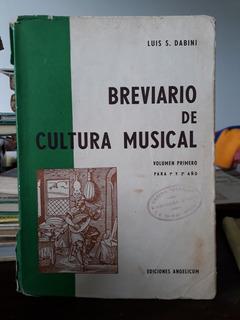 Breviario De Cultura Musical Vol 1 - Luis Dabini