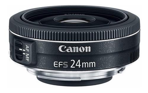 Imagem 1 de 6 de Lente Canon Ef-s 24mm 2.8 Stm Garantia Brasil 12x S/juros