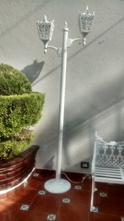 Farol De Poste Con Dos Luces