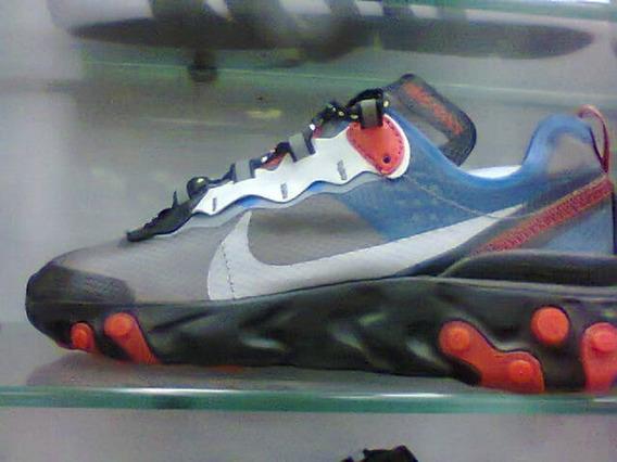 Tenis Nike React Element 55 Cinza E Vermelho Nº42 Original