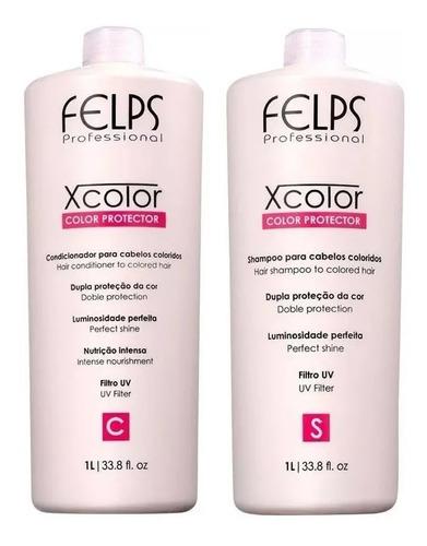 Felps X Color Shampoo E Condicionador 2x1l + Brindes