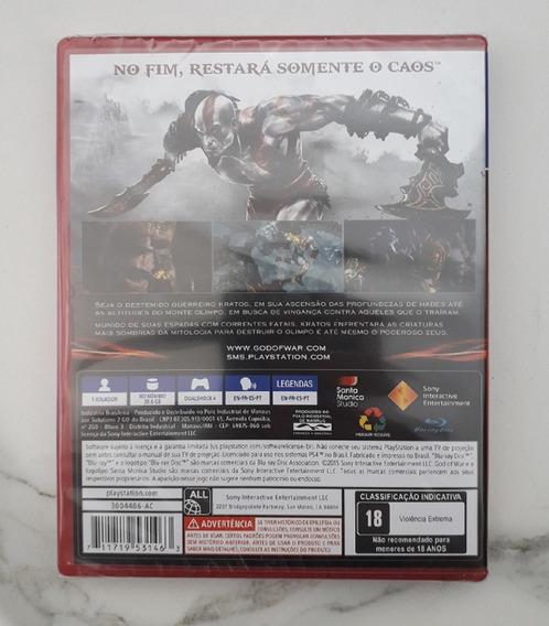 Jogo God Of War 3 Ps4 Português Mídia Física Novo Cd God 3
