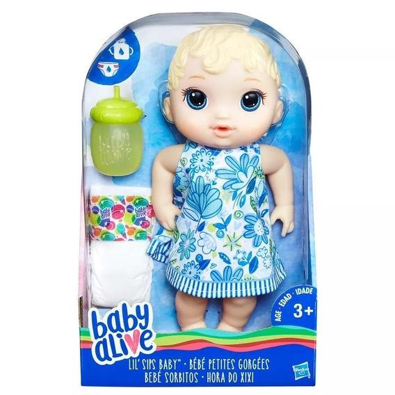 Boneca Baby Alive Hora Do Xixi Loira Original Hasbro E0385