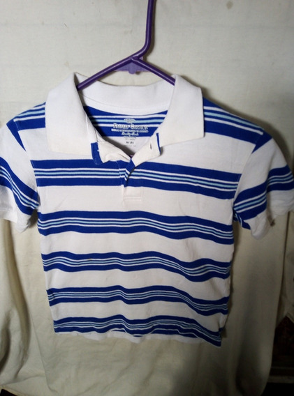 Playera Tipo Polo Faded Glory 8t