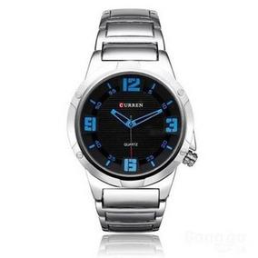 Relógio Masculino Curren Analógico Prata Com Garantia.
