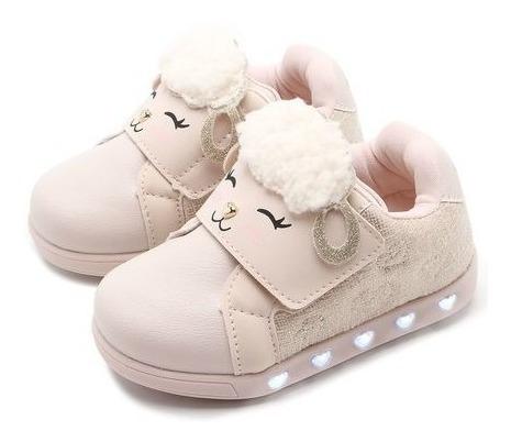 Tênis Pampili Menina Sneaker Luz Bege