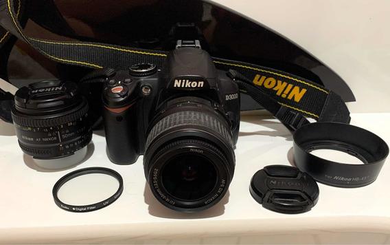 Nikon D3000 + Lente 18-55mm + Lente 50mm +filtro Uv +parasol