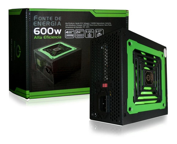 Fonte Atx 600w Real Onepower Gbt Mp600w3i V2.3 20/24pinos Pc