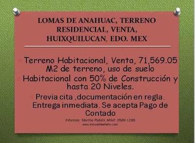 Bosque De Las Palmas Terreno Habitacional Venta Huixquilucan Edo Mex