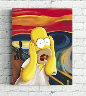 Quadro Simpsons Impressão Em Tela De Pintura 30x40