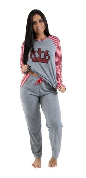 Pijama Longo Feminino Estampado Inverno
