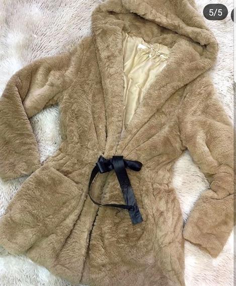 Blusa Frio Casaco Luxo Pelo Pelinho Bem Grosso Lançamento