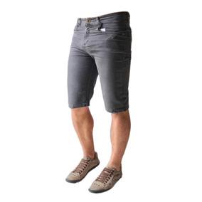 Kit 5 Bermuda Jeans Masculina Sarja Coloridas Slim Lycra