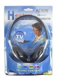 Auricular Stereo Tv Pc Notebook Acson As-440 5 Mts Cable