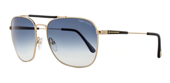 Lentes Gafas Tom Ford Ft0377 Edward Gold Black Made In Italy