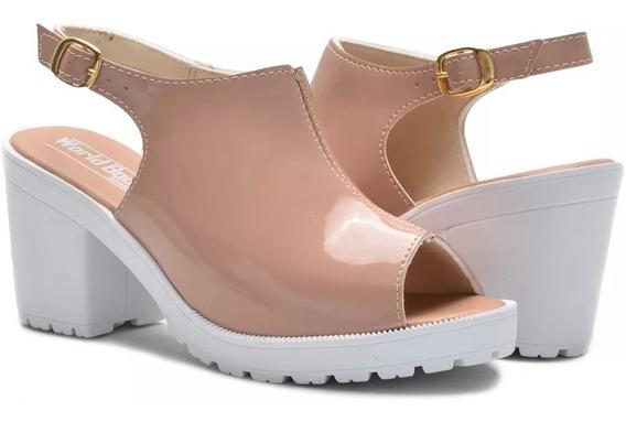 Sandalia Feminina Luxo Moderna Qualidade E Conforto Top