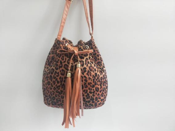 Bolsa Saco Oncinha Moda Feminina Outono-inverno 2019