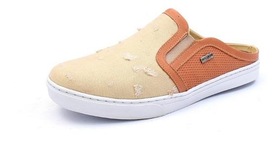 Sapatênis Mule Slip On Iate Luxo Em Couro Shoes Grand