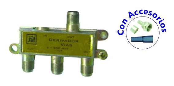 Splitter Tv Hd 5-900mhz - 3 Salidas Derivador