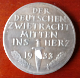 Medalha Alemanha Nazista 3º Reich 1933