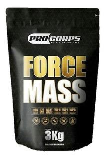 Kit 6x Force Mass 3kg Cada Massa Hipercalórico Procorps