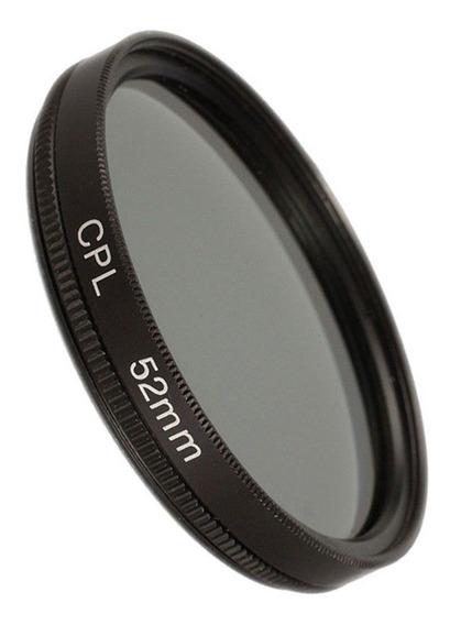 Filtro Circular Polarizador Cpl 52mm P/ Canon Nikon Sony