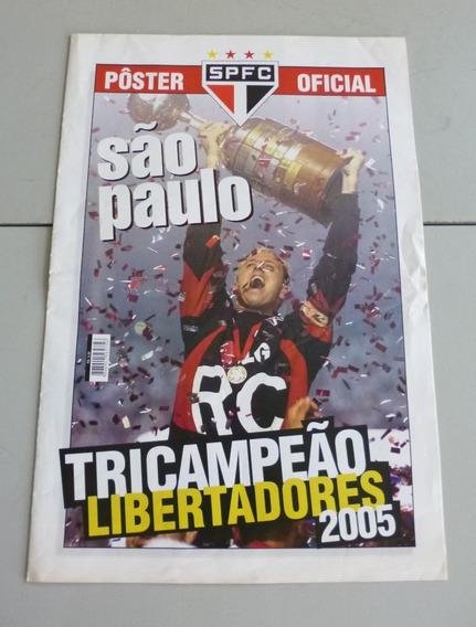 Pôster Revista Oficial São Paulo Campeão Libertadores 2005