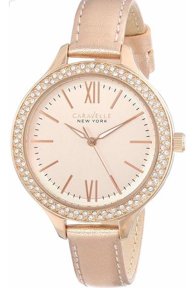 Reloj Caravelle Rose Gold Para Dama