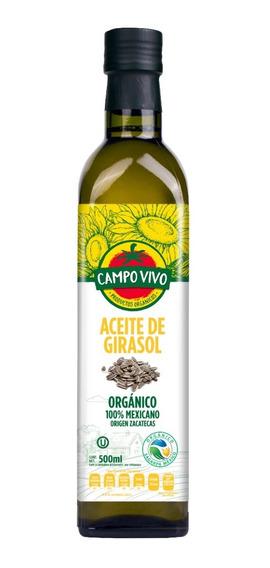 Aceite De Girasol Organico Campo Vivo 500 Ml