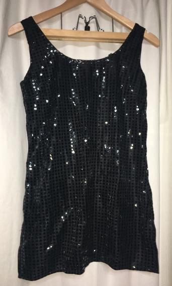 Vestido Para Patin Artístico Talle 1 Lentejuela Negro Cubrep
